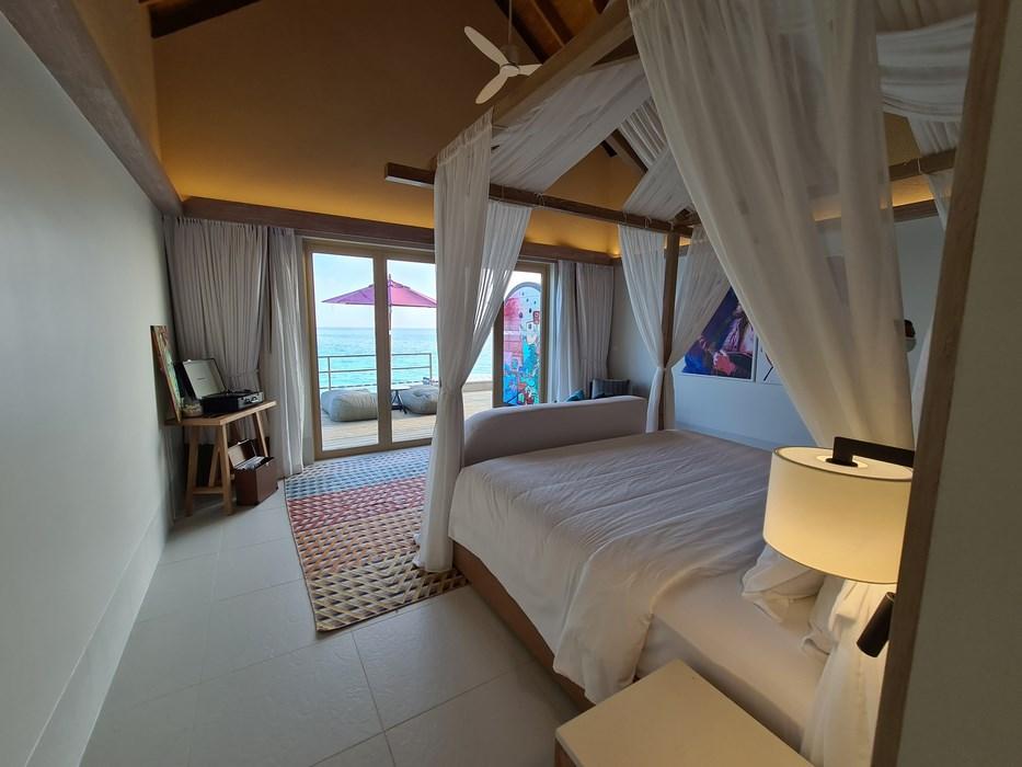 Rock Star Suite Hard Rock Hotel Maldives dormitor