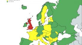 Harta Europei lista galbena