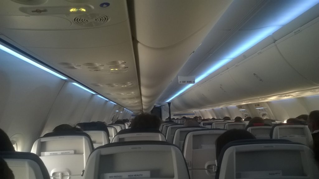 Interior Blue Air Beoing MAX