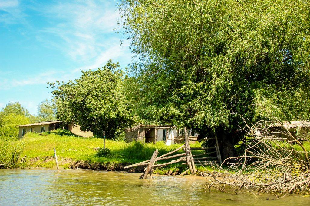 Casele pescarilor ascunse de vegetație
