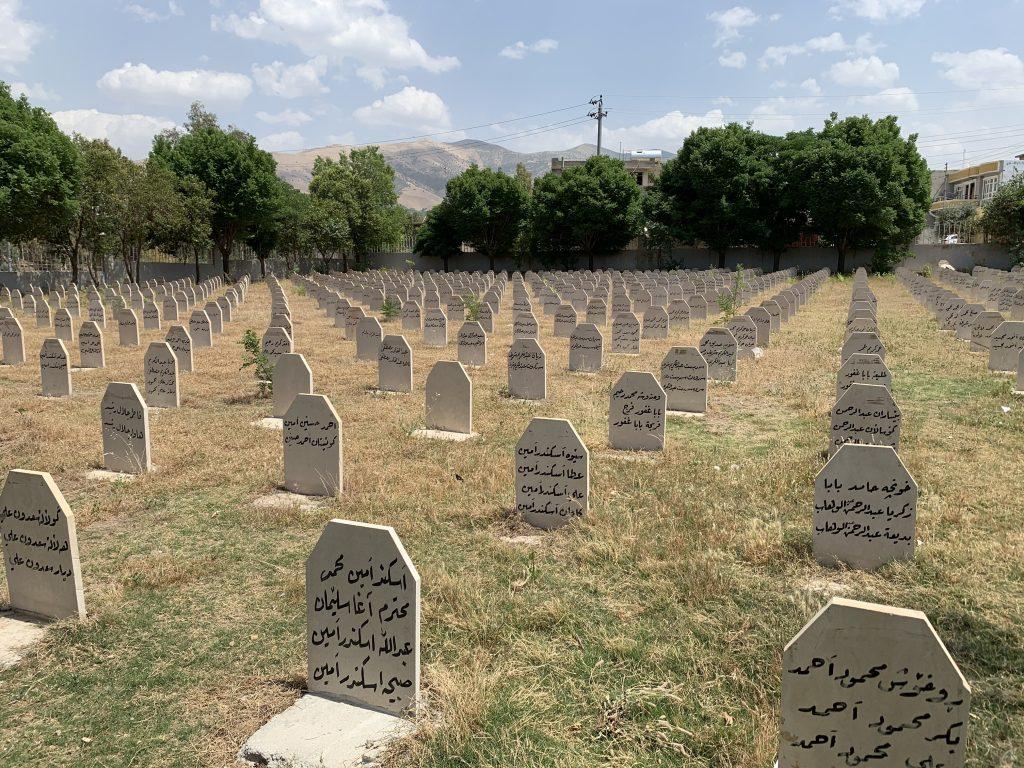 Halabja mormintele victimelor Anfal