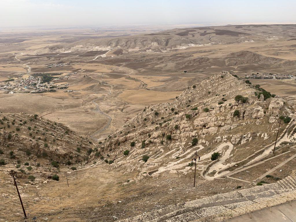 Vedere de la manastirea Mar Mattai spre Mosul