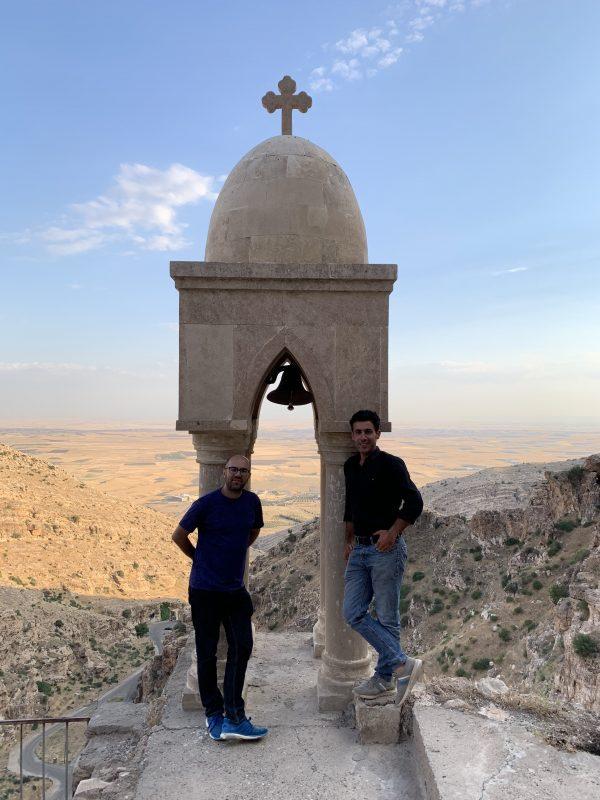 Vedere de la mastirea Rabban Hormizd si eu si Karwan