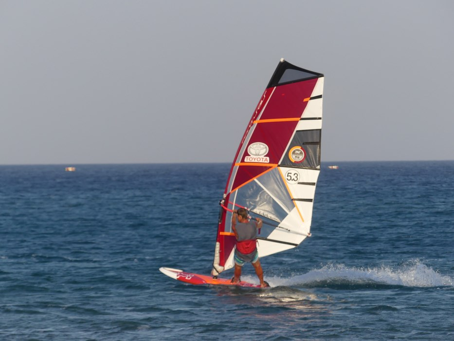 Surfing in Rhodos