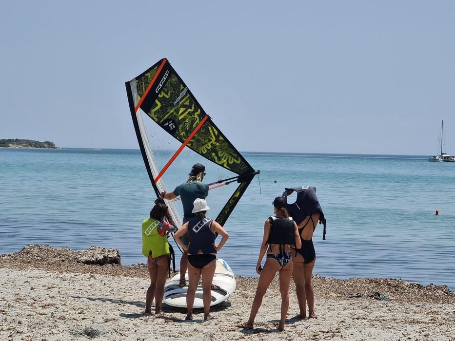 Scoala kite in Limnos