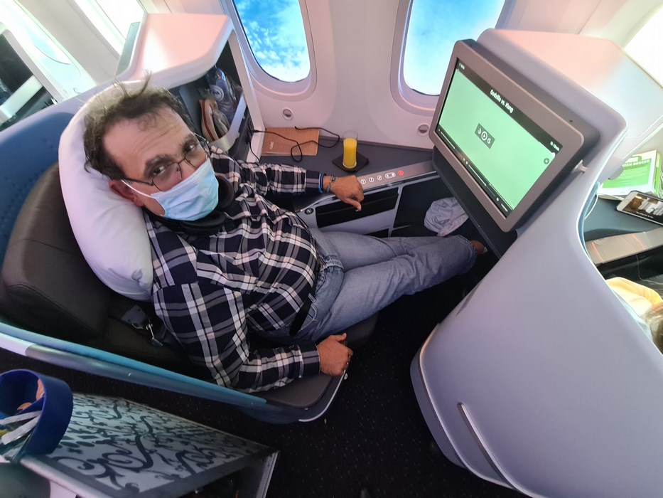 Business class Dreamliner