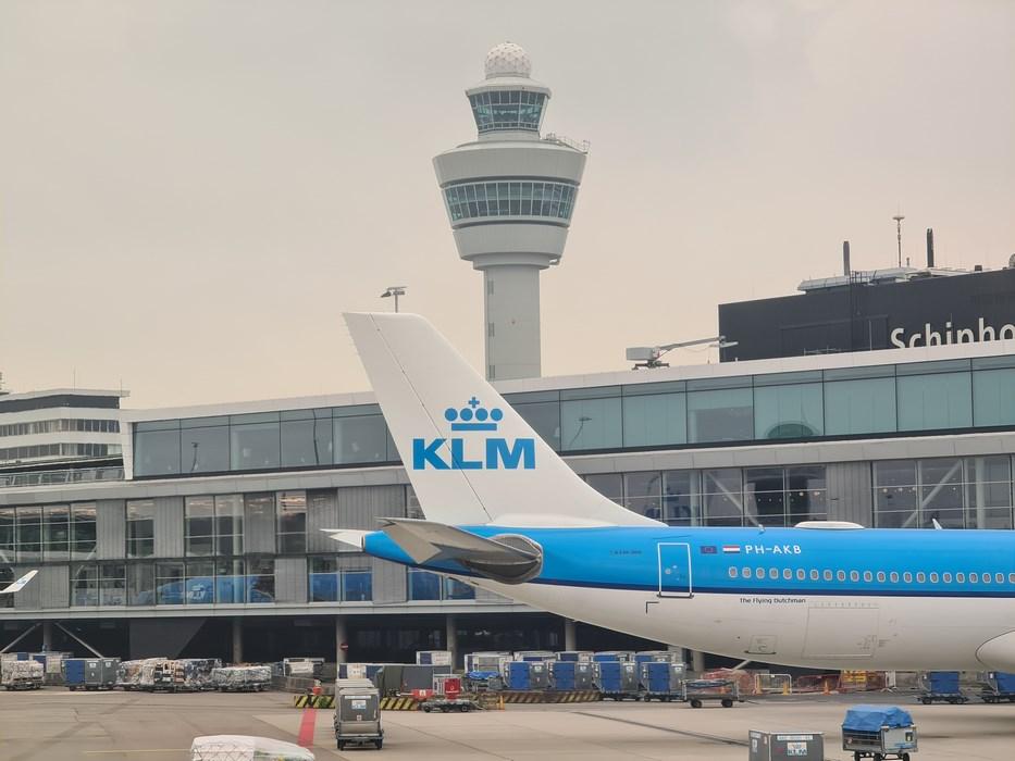 KLM in Schiphol